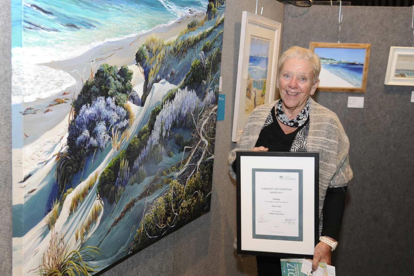 Painting winner Susie Logue. Picture: Chris Kershaw