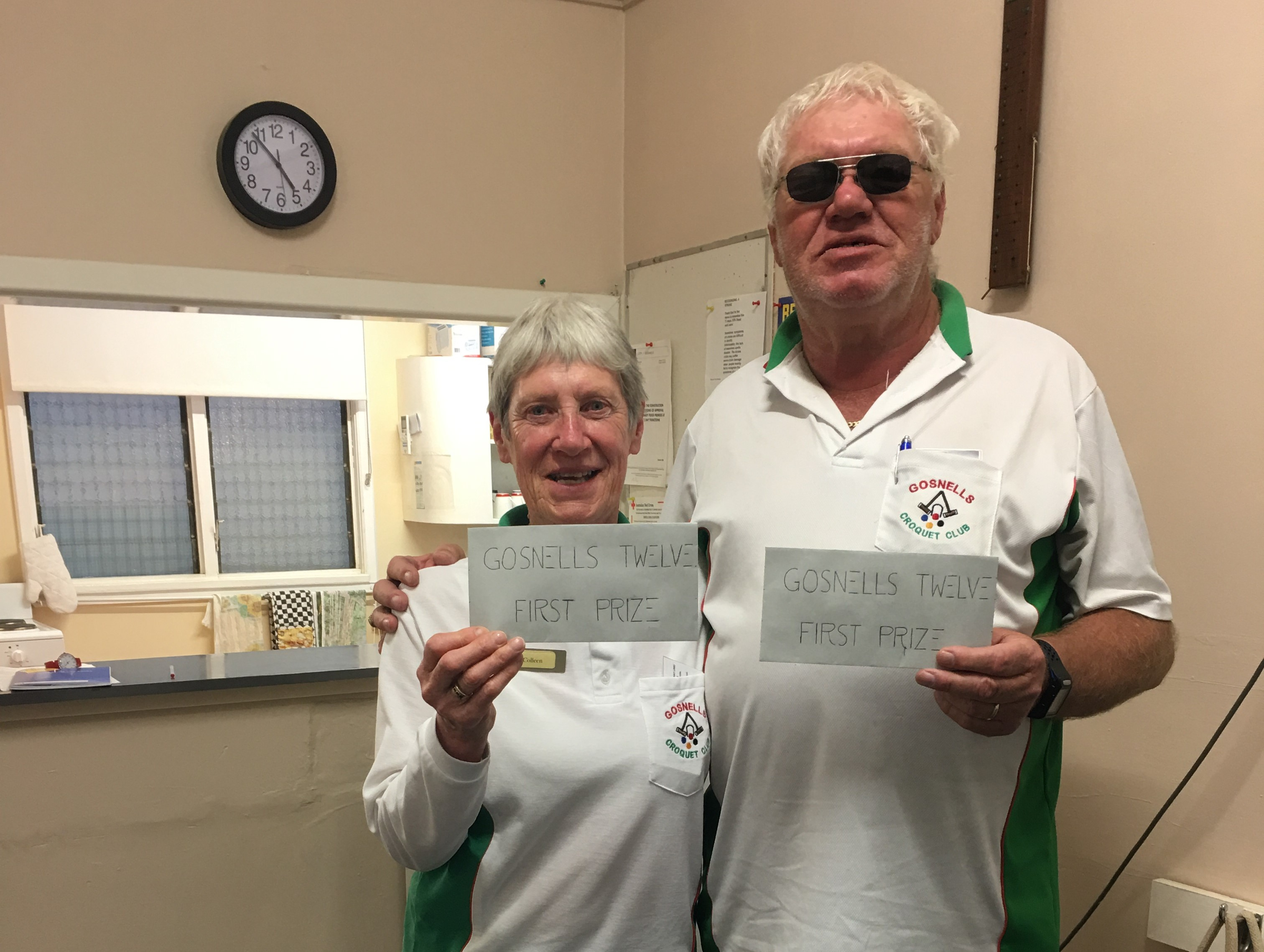 Colleen Sacco and Terry Brown won the Gosnells 12 Handicap Doubles Croquet competition.