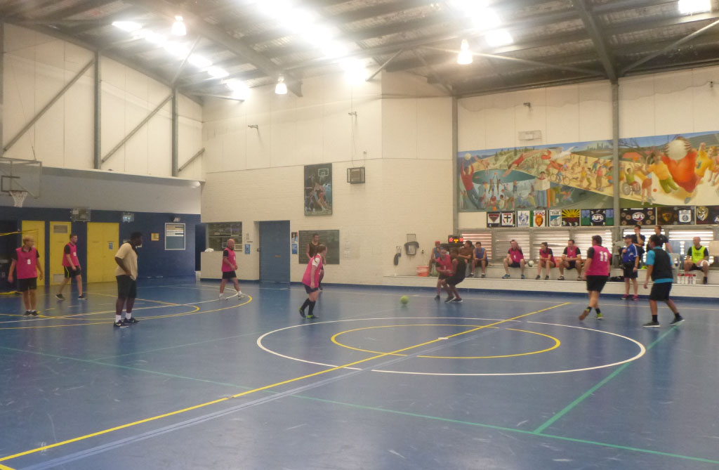 Football West makes regular visits to Banksia Hill Detention Centre to connect with young people through soccer. Picture: Football West