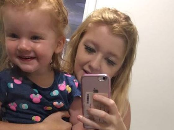 Tammy Marchant died in a car accident in South Australia leaving behind two-year-old Navaeh.