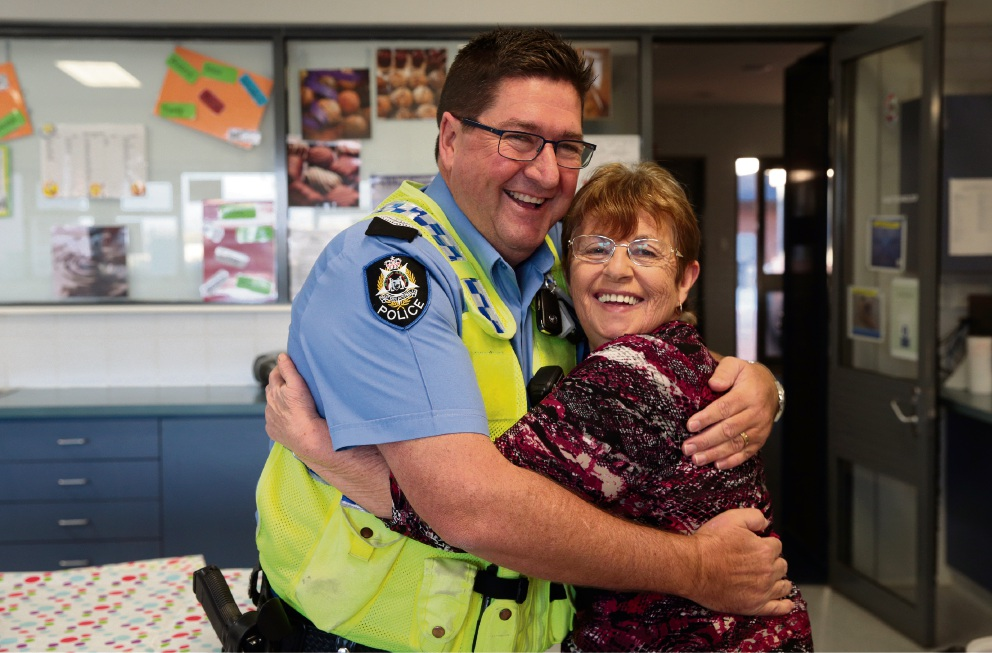 Senior Constable Alan Nimmo and home economics assistant Wendy Hillier.  Pictures: Martin Kennealey d470560
