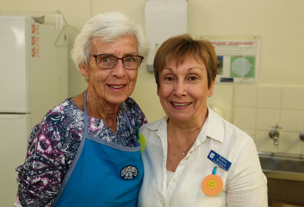 Faye Shardlow and Teresa Scougal from Yanchep CWA. Picture: Martin Kennealey