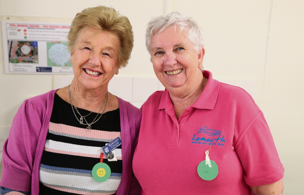 Margaret Collins and Prue Mayes from Yanchep CWA. Picture: Martin Kennealey