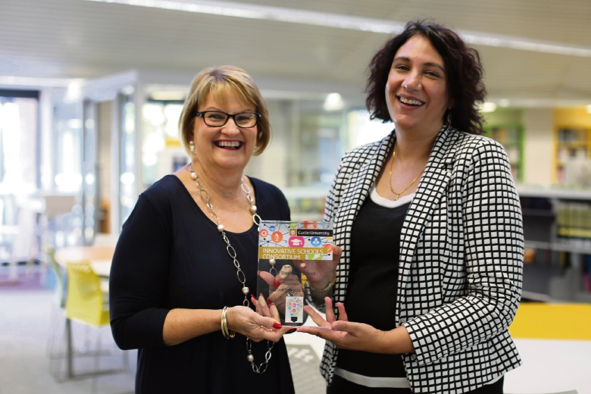 Curtin academic deputy vice-chancellor Jill Downie and St Stephen's School principal Donella Beare.