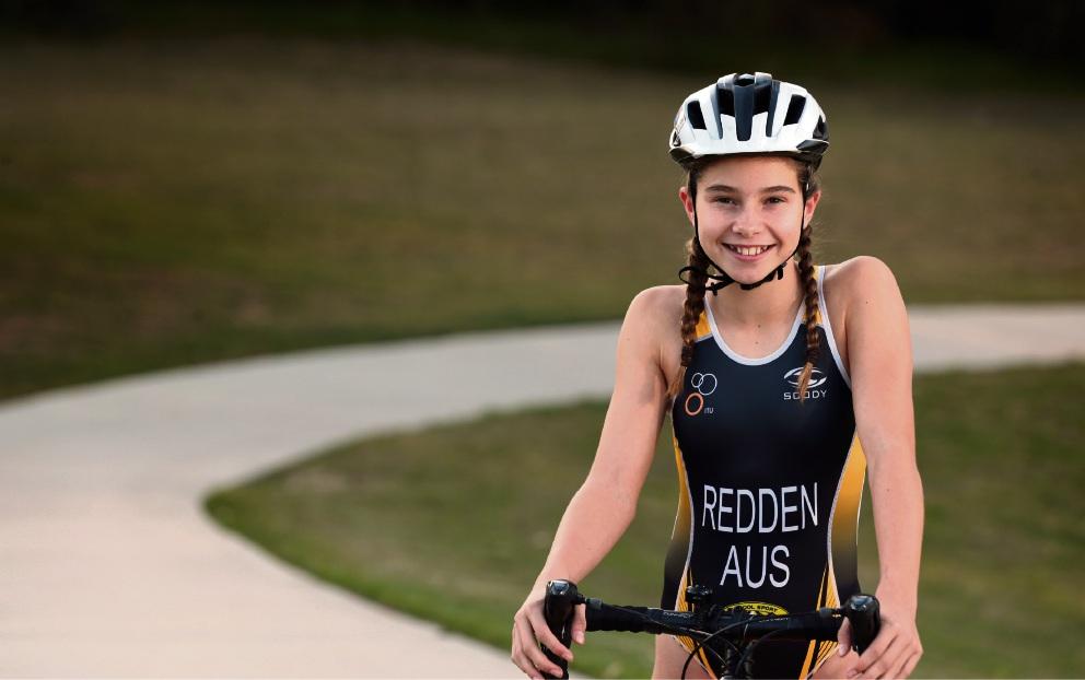 Triathlete Maisy Redden. Picture: Martin Kennealey  d469719