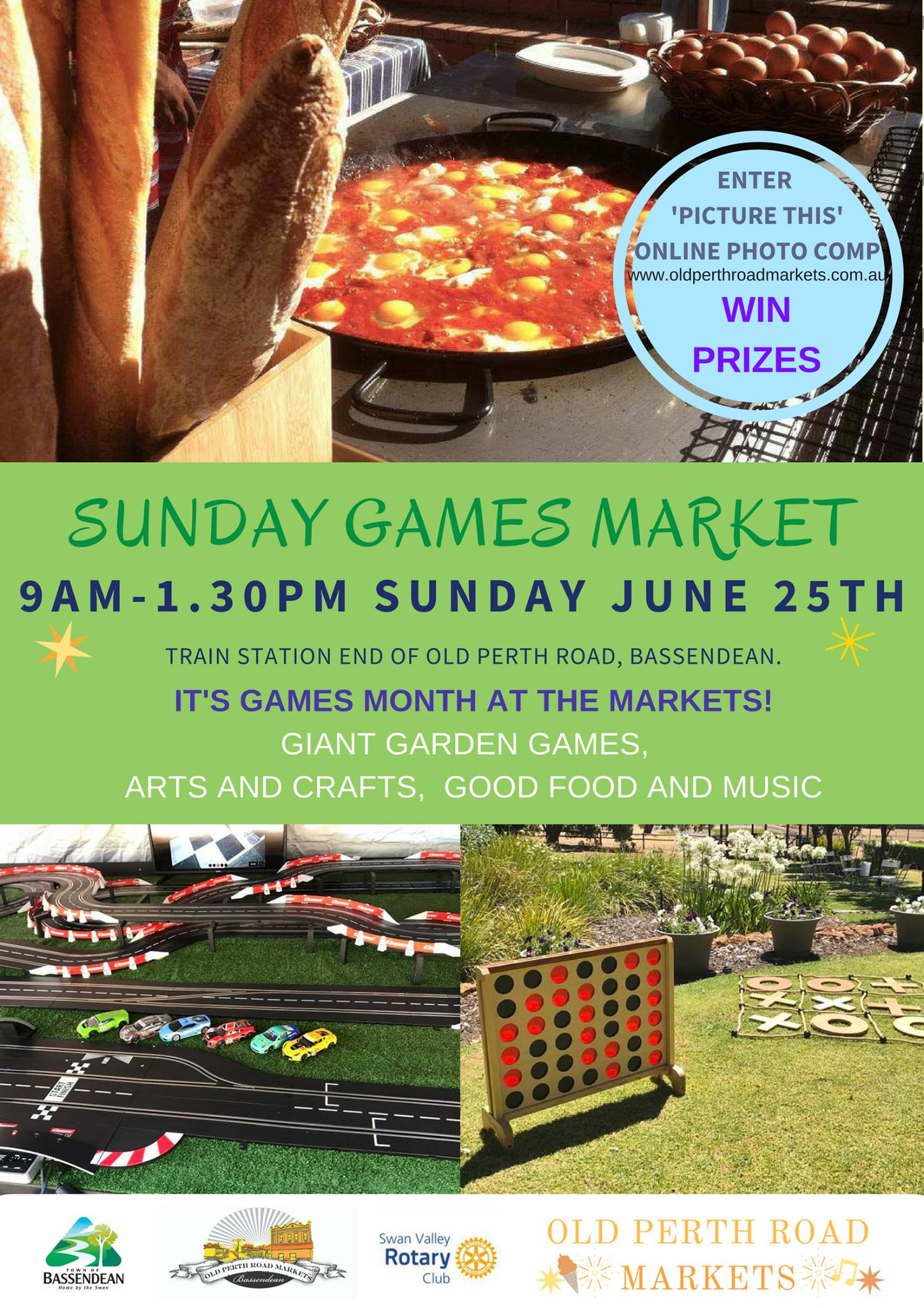 June Games market at Old Perth Road Markets