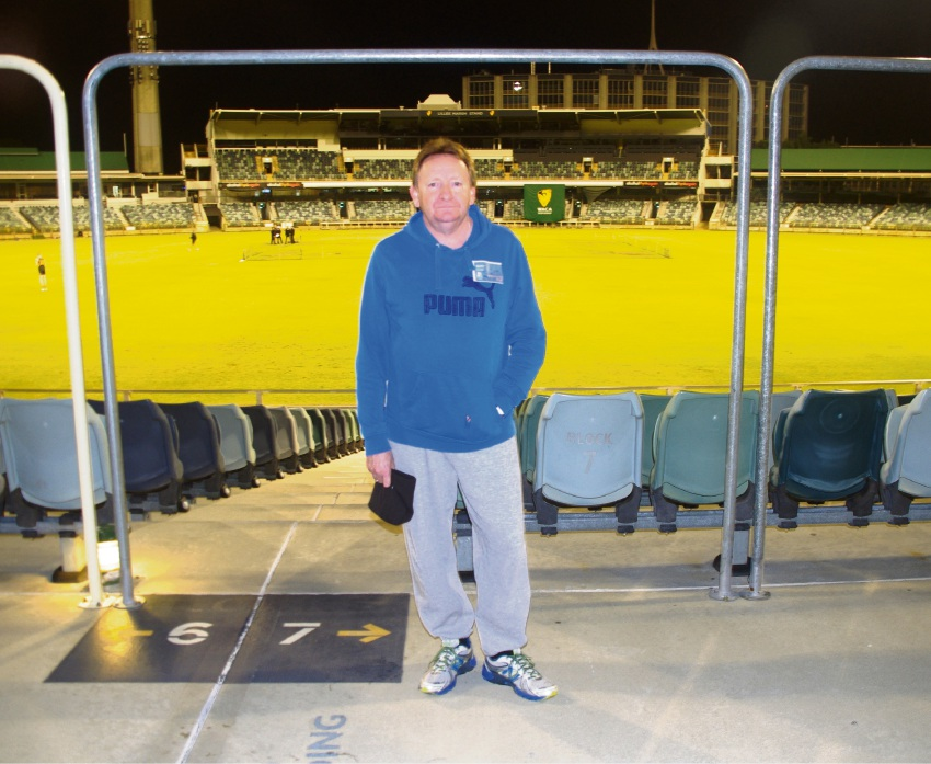 Barry Felstead at a previous Vinnes CEO Sleepout.