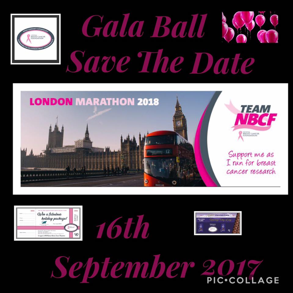 London Marathon Pink & Black Tie Gala Ball in support for The National Breast Cancer Foundation