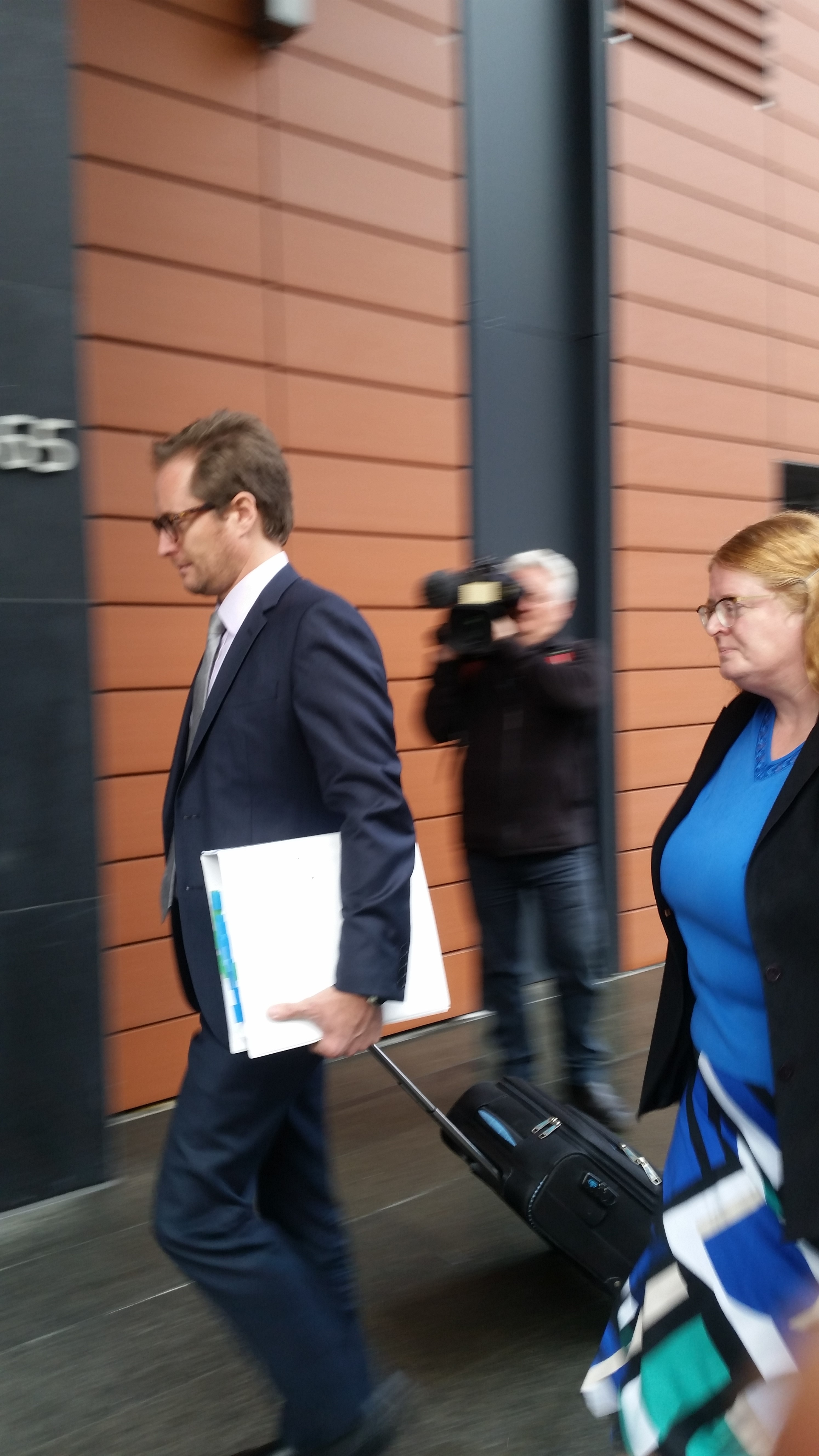 State Solicitors Office lawyers representing the Department of Local Government, David Leigh and Carolyn Thatcher, arrive at the State Administrative Tribunal for day two of the Lord Mayor's penalty hearing. Picture: Giovanni Torre