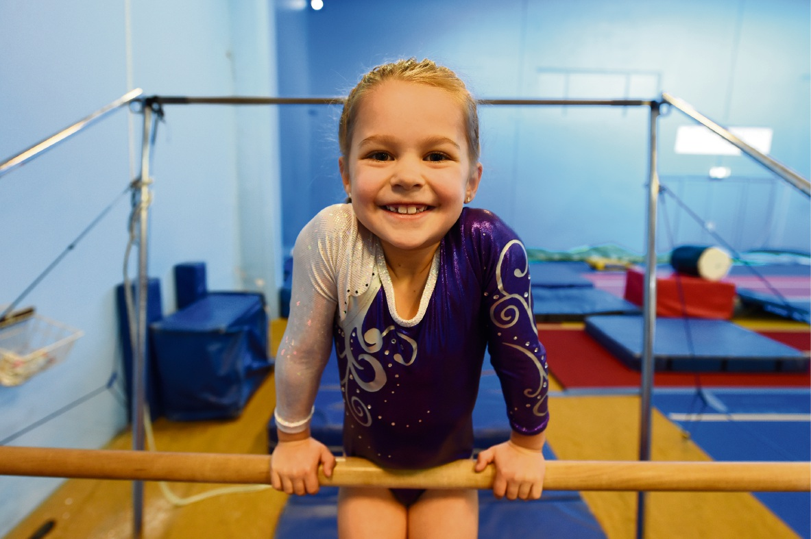 Six-year-old Ferndale gymnast Louisa Donovan.