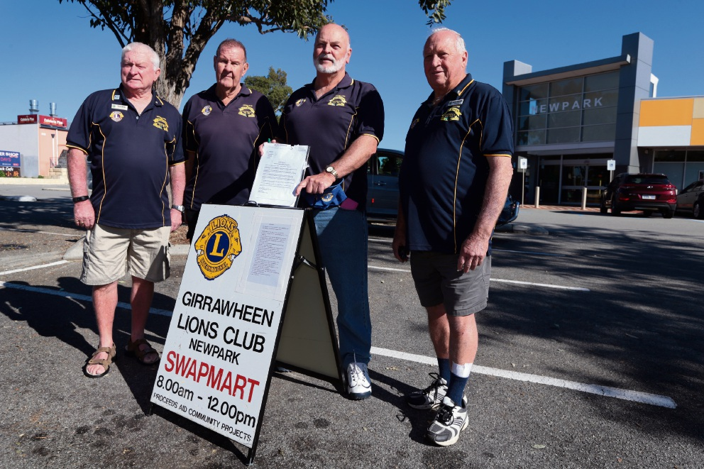 Rick Snow,Terry Dodd,Brian Anderson and Barry Nielsen from the Lions Club of Girrawheen. Picture: Martin Kennealey �������www.communitypix.com.au   d470562