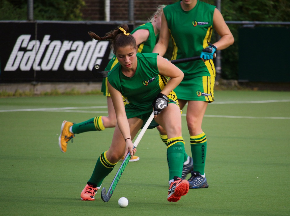 Jo Snyman playing for the under-17 All Australian School Girls in Europe earlier this month.