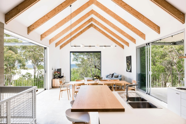 Regional entry Eagle Bay House by Matthew Crawford Architects with Rose Burton took home an Architecture Award in the residential alterations and additions category.