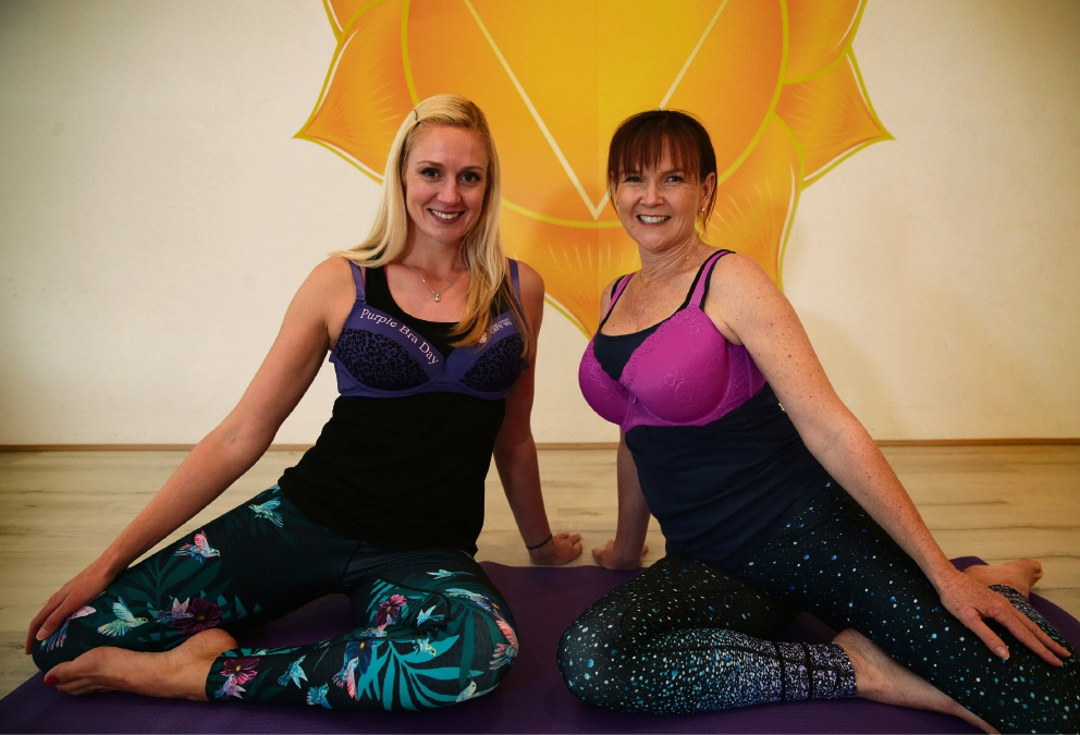 Yoga instructor Rhianna Williams with owner and Leah Nylander. d470539