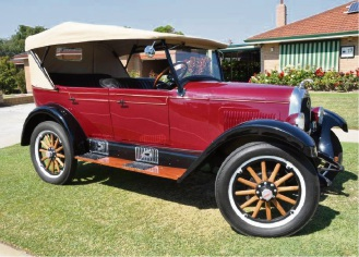 Veteran Car Club of WA Peel branch chair David Munro owns this recently restored Overland Whippet.