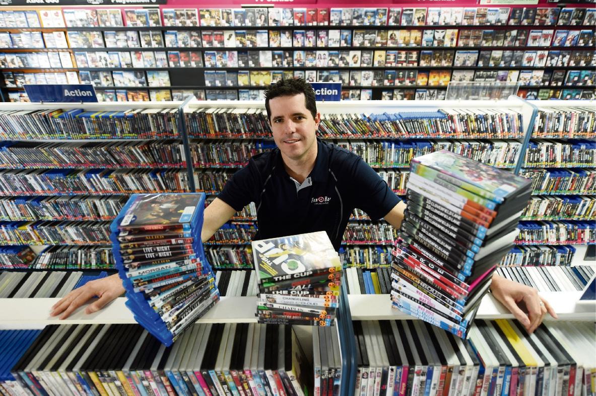 Spearwood Video Ezy owner Mat Rolfe. Picture: Jon Hewson