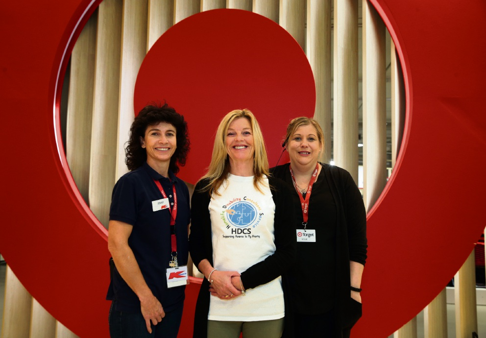 Jenny Borchardt (clothing manager K Mart), Gill Gore (disability consultant HDCS) and Kylie Downs (assistant store manager Target). Picture: Martin Kennealey d470620