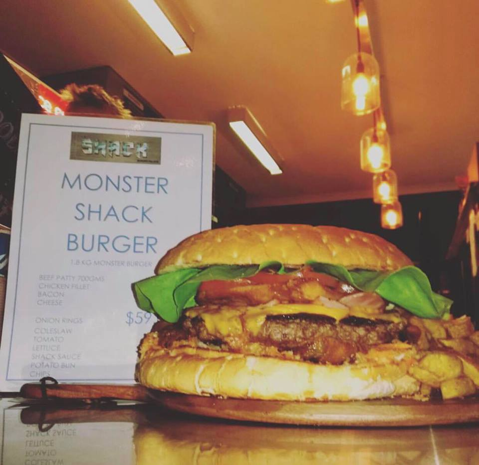 Mandurah's The Shack Burger Parlour hosting monster 1.8kg burger eating competition