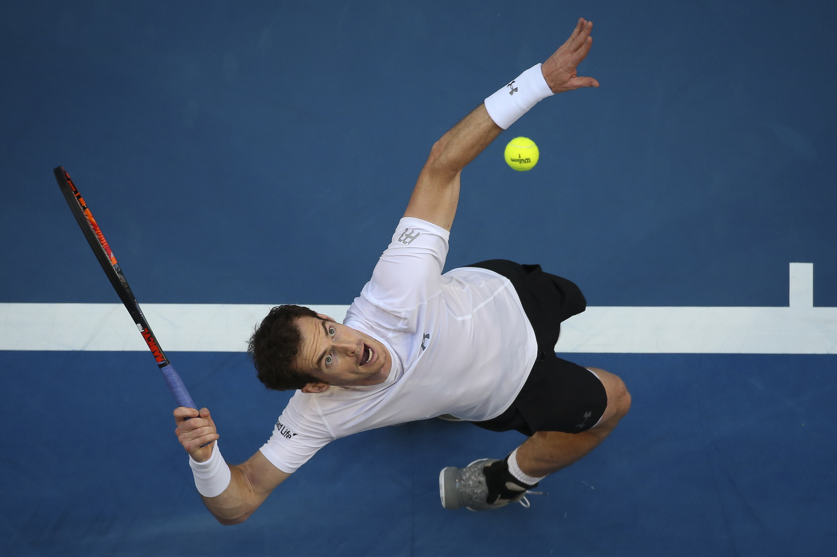 Andrew Ritchie's winning photograph of Andy Murray at the 2017 Hopman Cup. Picture: Andrew Ritchie