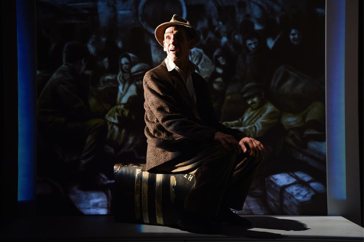 Ellis Pearson playing Aki in The Arrival. Picture: Jon Hewson