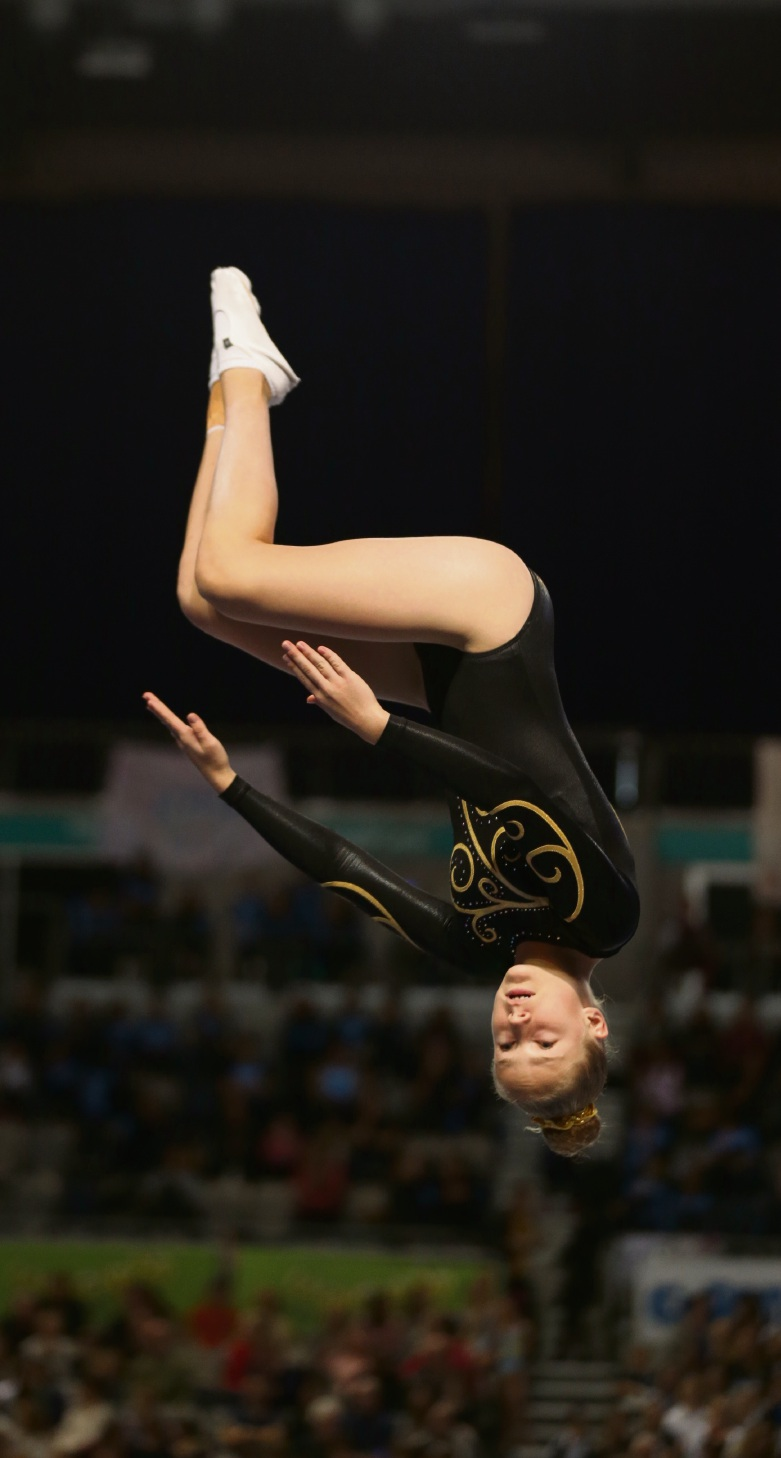 Lara Reeves at the Australian gymnastics championships in Melbourne.