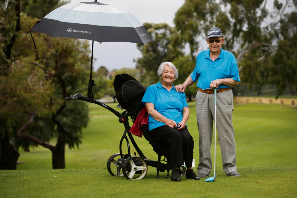 Embleton Golf Course members Joy and John Palmer. Picture: Andrew Ritchie �������www.communitypix.com.au d470698