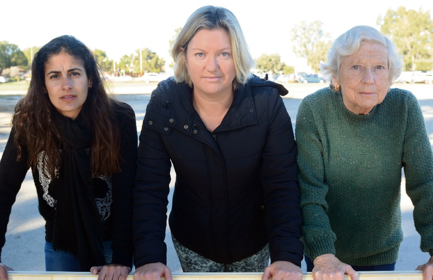 We Need a High School members Mandy Twomey, Katherine Clements and Hilary Pinerua.