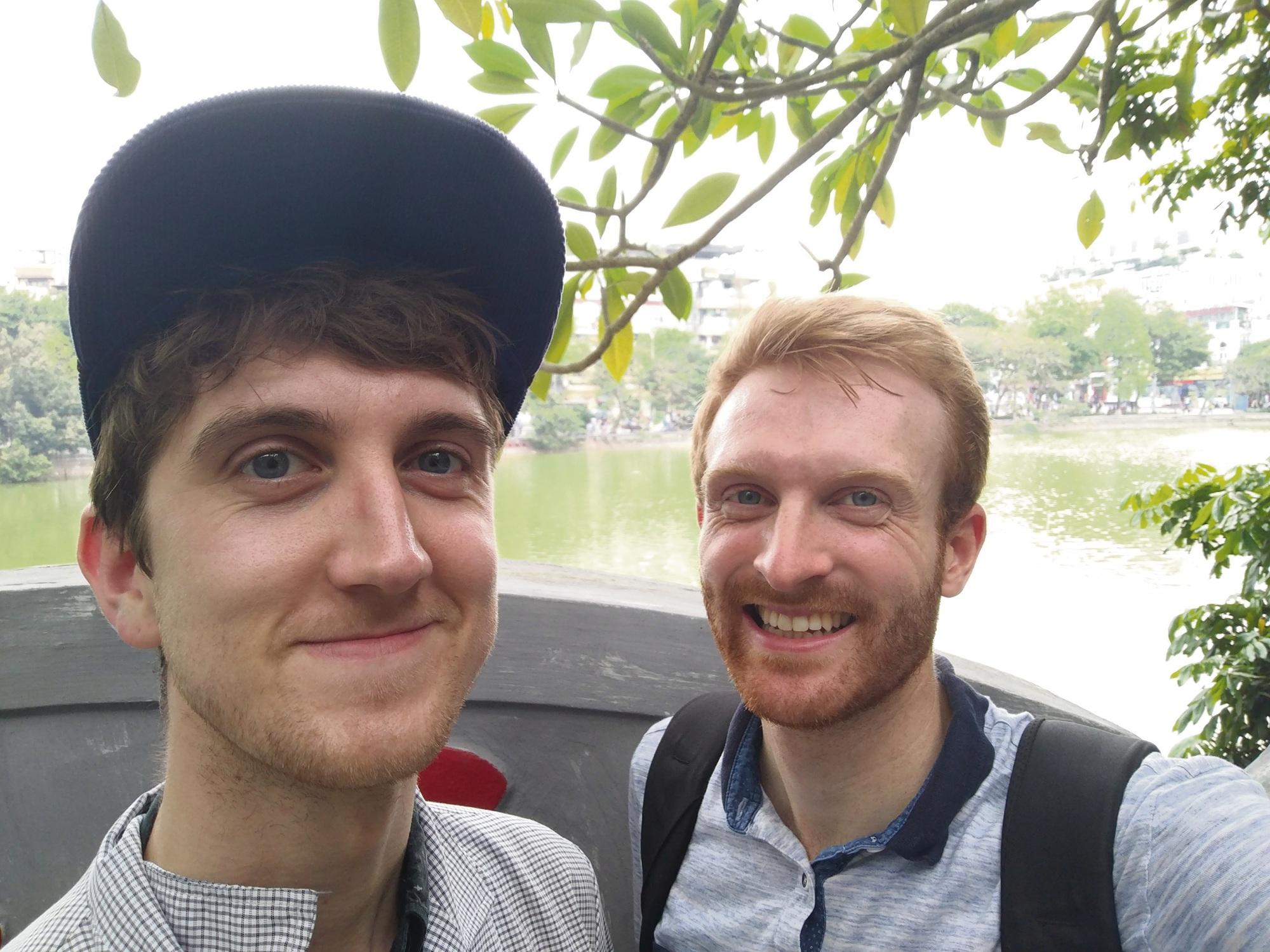 Mitchell Dehnel and his partner Joel.
