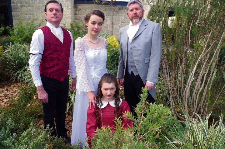 Ross Burford, Meesha Williams, Justin Freind and Christie McGarrity in The Secret Garden.