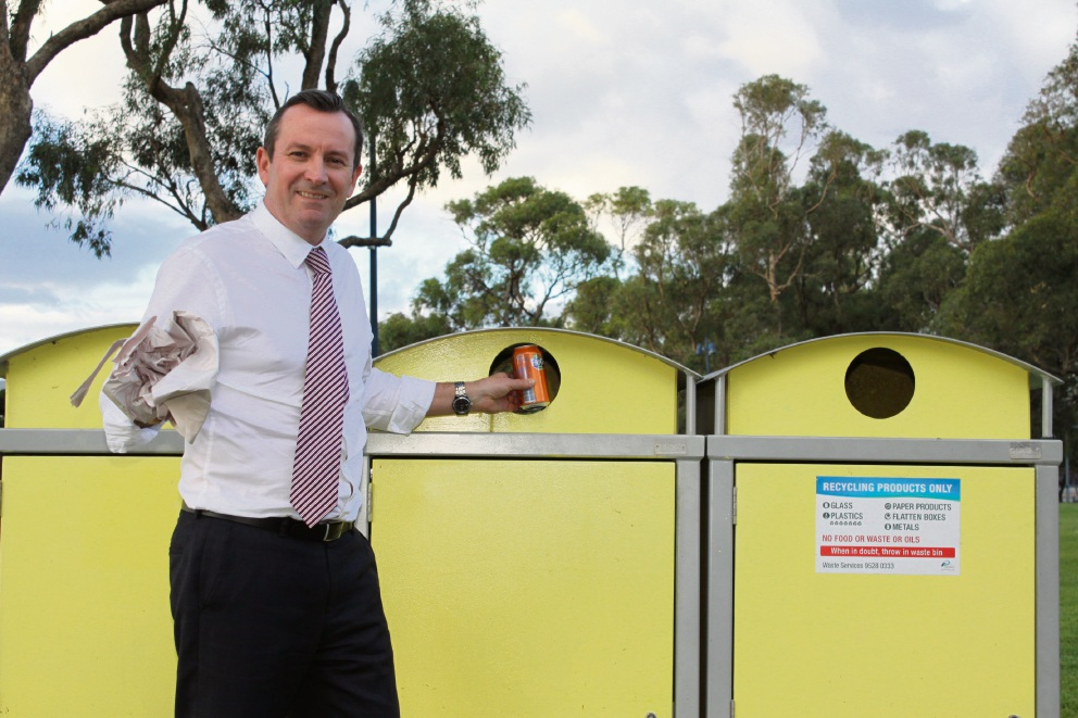 Premier Mark McGowan has thrown his support behind Community Newspaper Group's Cleaner Communities campaign. Picture: Gabrielle Jeffery.