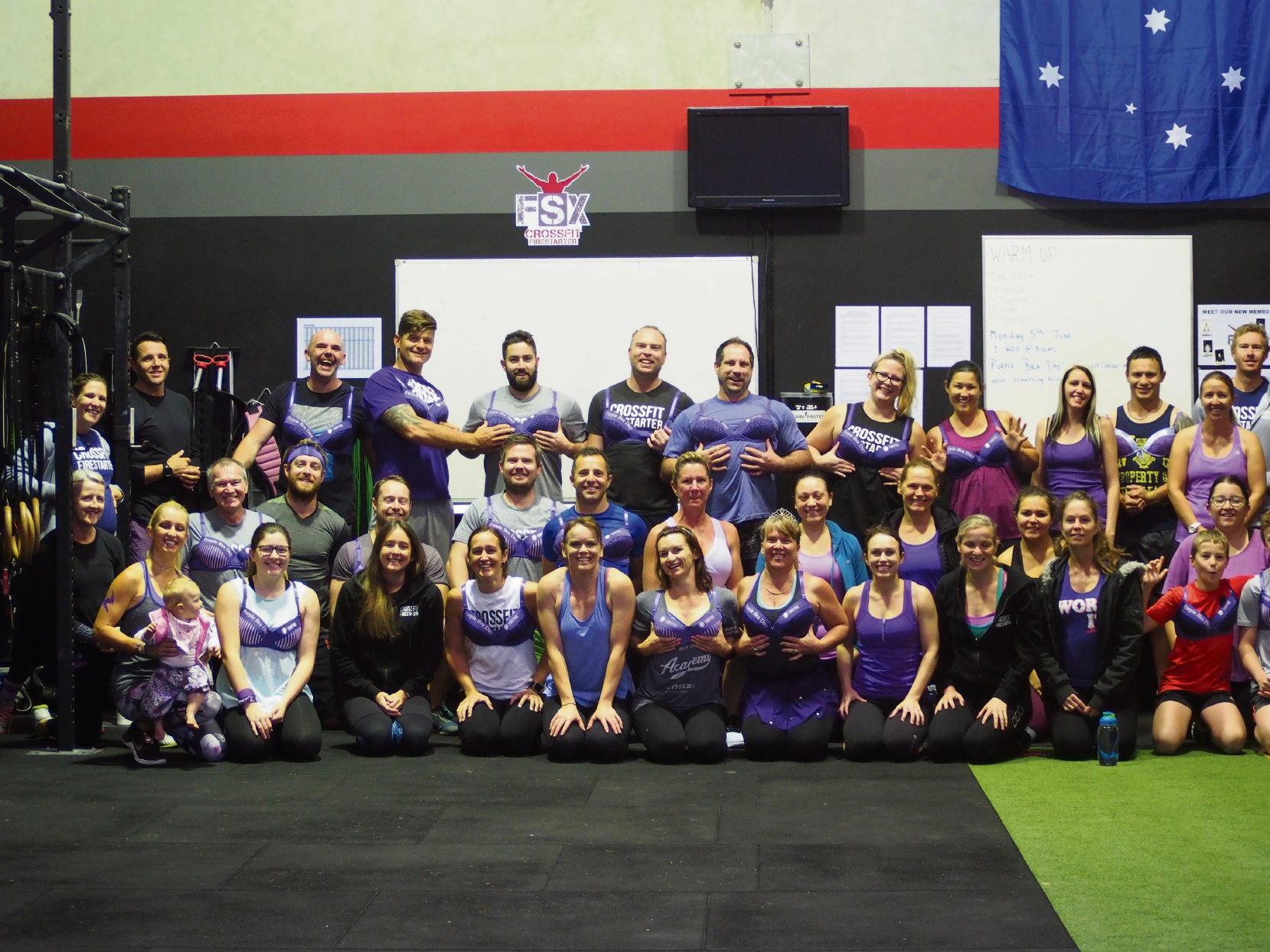 The Purple Bra Day at CrossFit Firestarter.