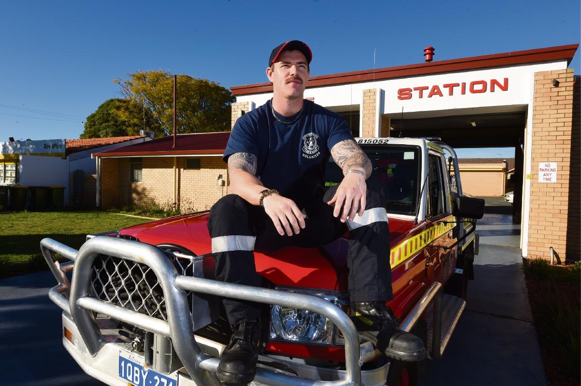 Steve Harrod at the Kwinana fire station. Picture: Jon Hewson