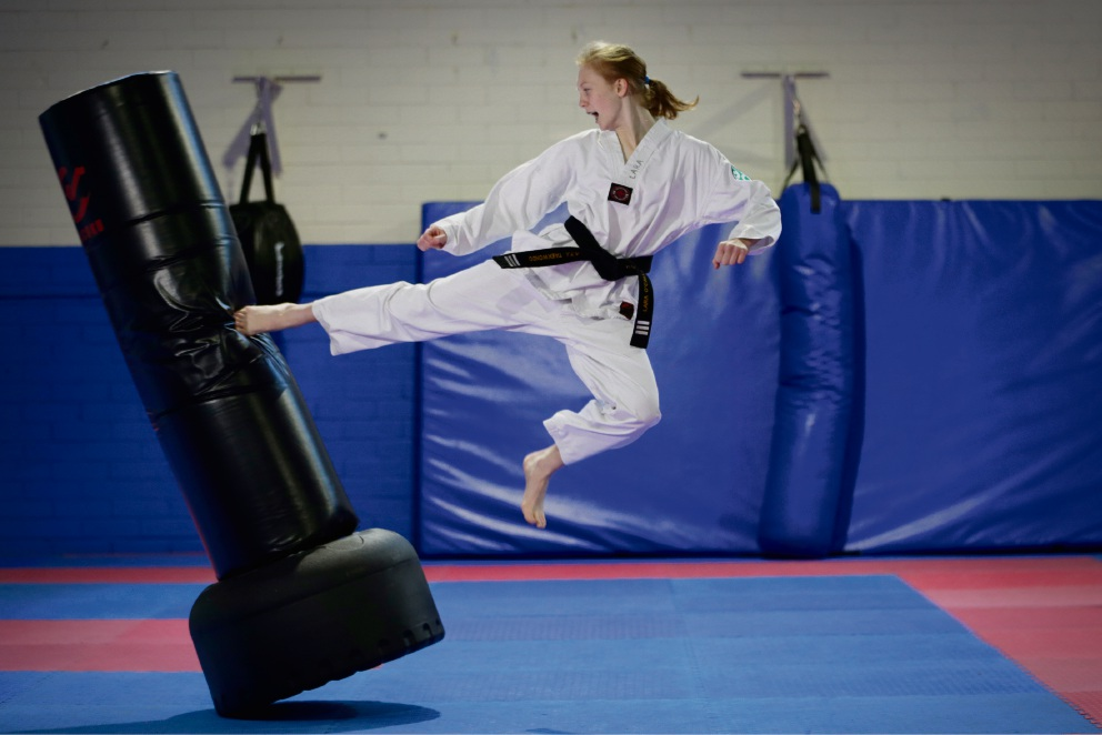 She packs quite a punch too: Taekwondo powerhouse Lara O'Callaghan. Picture: Andrew Ritchie �������www.communitypix.com.au   d470267