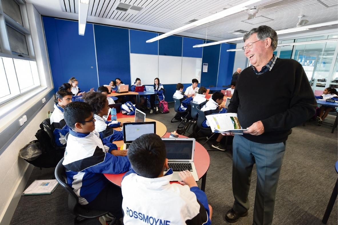 Teacher Paul Jones with students. Picture: Jon Hewson ������� d470394