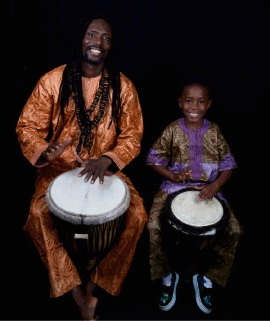 Bolo Djibril Diagne and son Papa Oumar Diagnew will be at the expo. Picture: Alma Sarhan