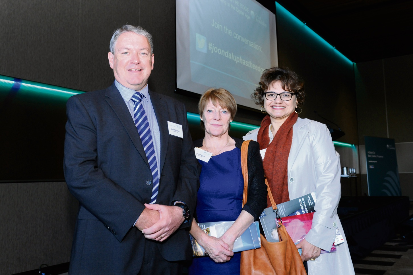 Steve Marmion, Linda Parkes and Cema Santos. Picture: Chris Kershaw