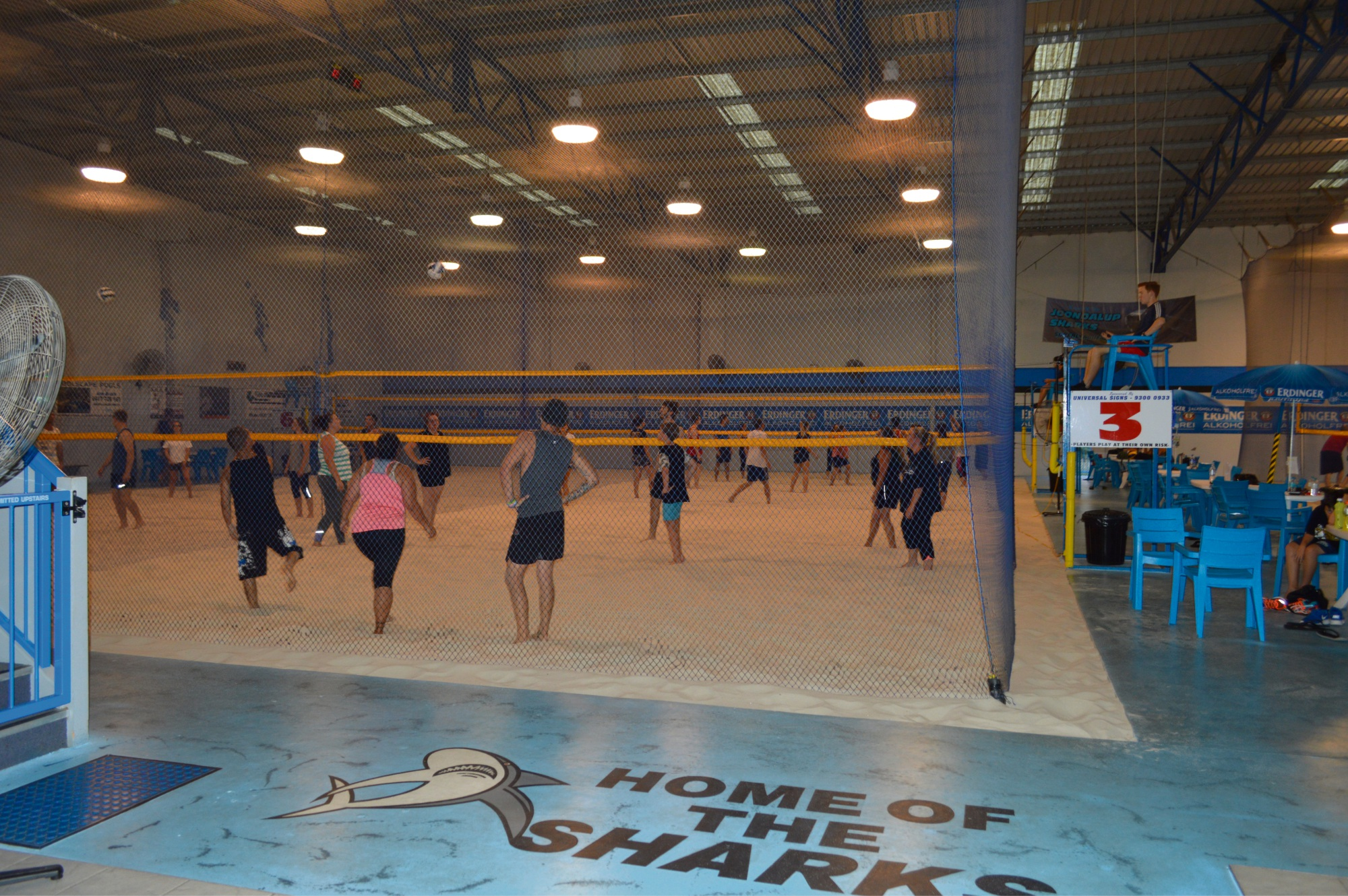 Joondalup is hosting round four of the Indoor Beach Volleyball Super League.