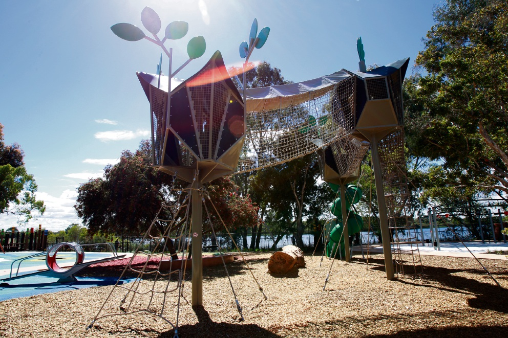 Cockburn Regional Playground in Bibra Lake was given a high commendation at Parks and Leisure Australia's Awards of Excellence on June 16.