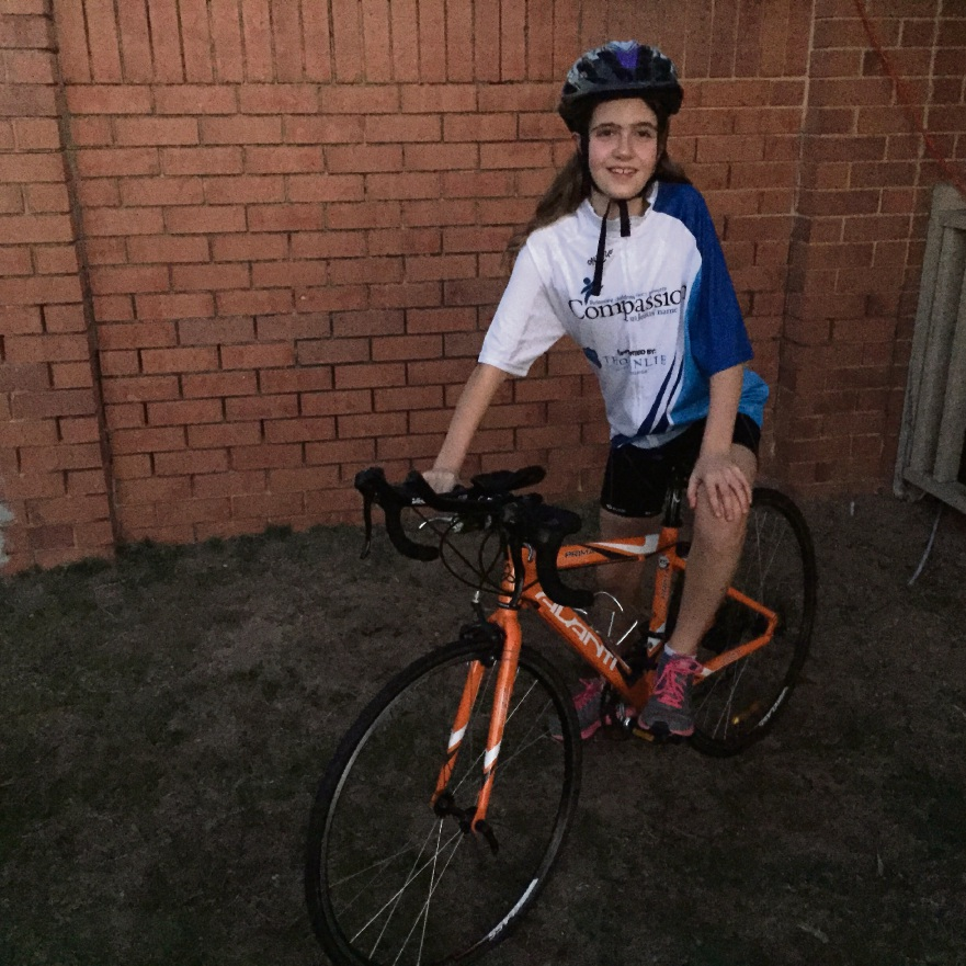 Ailie Clark will ride 100km for charity this weekend.