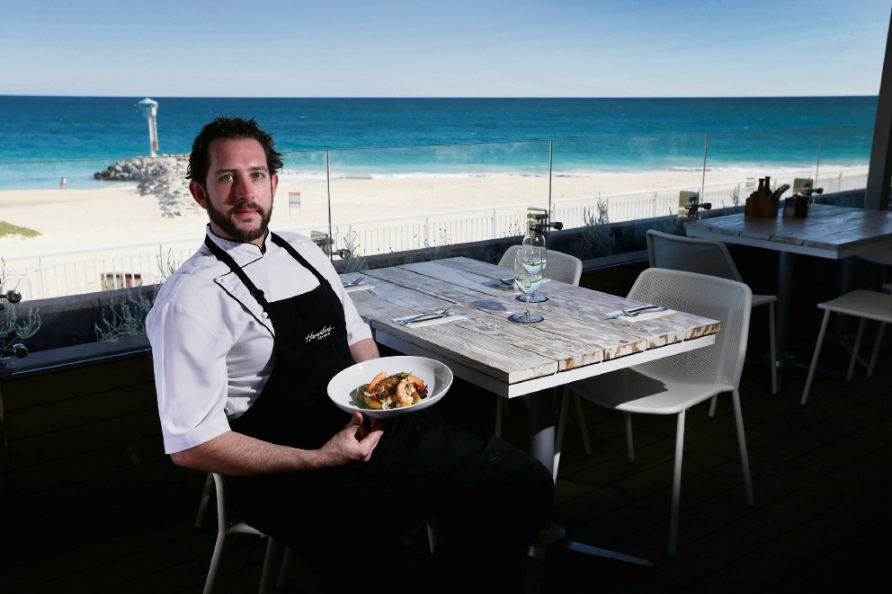 Head chef of Hamptons City Beach Matt Nebel is one of the chefs heading to the Gascoyne Food Festival in August. Picture: Andrew Ritchie d471018