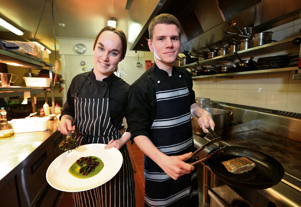 Sandalford Wines Restaurant chefs Lara Kirby and Hudson Stokes will be competing in the September live final of Australia's longest running culinary competition Nestle Golden Chef's Hat Award in Sydney. Picture: David Baylis d470953