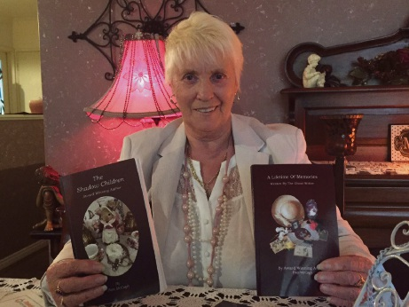 Pam McCagh with her two latest books.