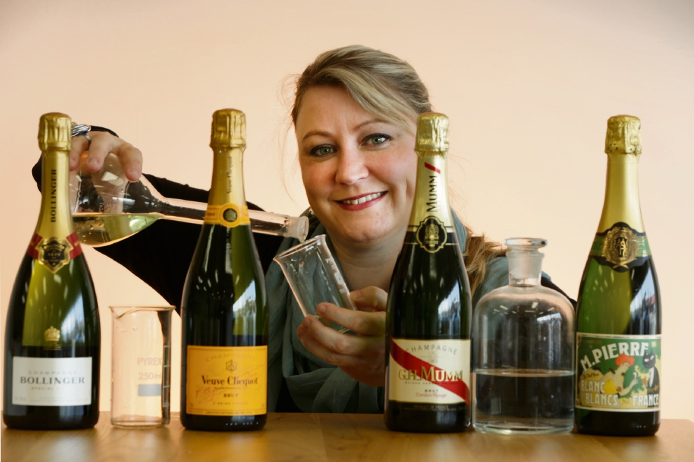 Emma Donnelly is doing research on champagne. Picture: Andrew Ritchie d470021