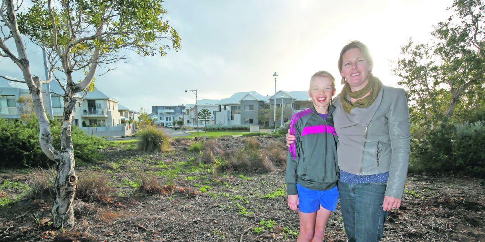 Freya Jane Harris with Nicola Bagley.