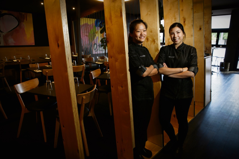 Amanda Yong and Karmen Lu from Measure Bar are two of the chefs taking part in Variety of Chefs dinner this year. Picture: Andrew Ritchie d470963