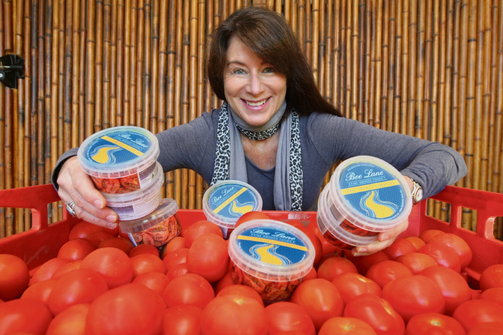 Bronwyn Lane of Bee Lane Fine Smoked Foods will be launching two new tomato products at this year Good Food and Wine Show.  Picture: Bruce Hunt www.communitypix.com.au   d470548