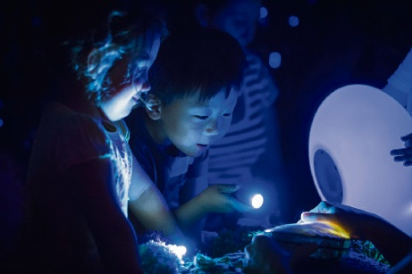 Children enjoying interactive theatre production Oddysea. Picture: Jessica Wyld Photography