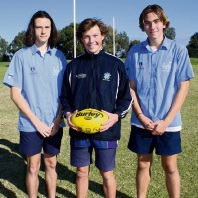 Connor Heuer, Michael Hall and Zane Sutherland are in the WA under-15 team.