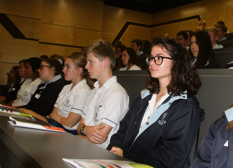 Year 10 students and teachers in the Just Start IT program. Pictures: Butler College