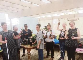 Elizabeth, Ivy, Vicki, Jess, Shelby, Elleah and Jacinta at the Esther Foundation workshop.